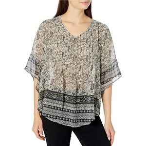 One World Pleated Front Blouse